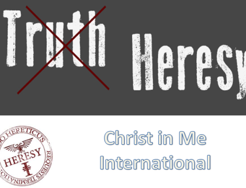 The 'One GOD' of Christ in Me International [Christ in me Collective] (Part 3) by Pastor Rudolph Boshoff.
