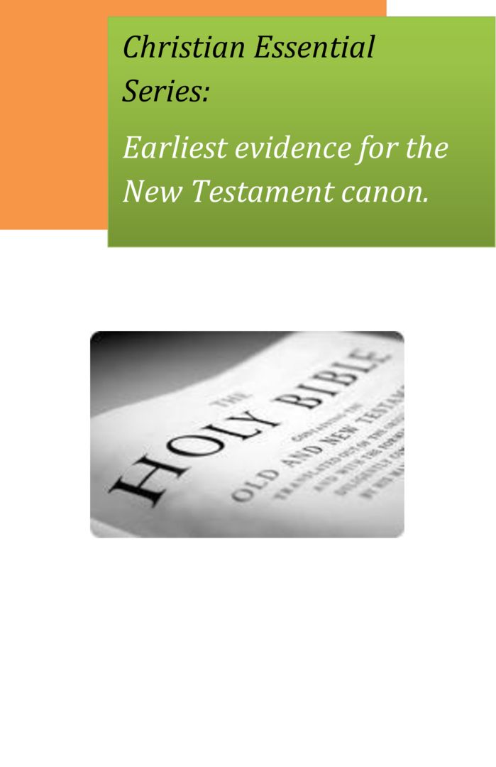 thumbnail of Christian-Essentials-New-Testament-Early-Evidence
